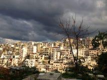 Città densamente popolata di Tripoli, Libano Immagine Stock