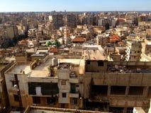 Città densamente popolata di Tripoli, Libano Fotografie Stock