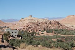 Città di Aït Ben Haddou in deserto del Sahara Fotografia Stock