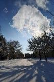 Città di Abovyan nell'inverno Immagine Stock