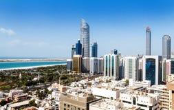 Città di Abu Dhabi Fotografia Stock