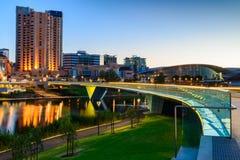 Città di Adelaide alla notte Fotografia Stock Libera da Diritti