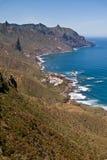 Città di Almaciga sulla costa Est del nord di Tenerife Fotografia Stock Libera da Diritti