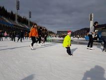 Città di Almaty fotografie stock libere da diritti