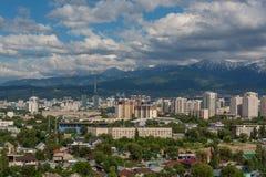 Città di Almaty Fotografie Stock