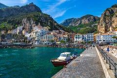 Città di Amalfi Fotografie Stock Libere da Diritti