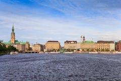 Città di Amburgo Fotografia Stock Libera da Diritti
