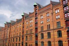 Città di Amburgo dei magazzini Fotografia Stock