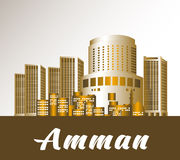 Città di Amman Jordan Famous Buildings Immagini Stock Libere da Diritti
