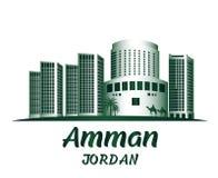 Città di Amman Jordan Famous Buildings Fotografia Stock Libera da Diritti