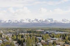 Città di Anchorage Immagini Stock