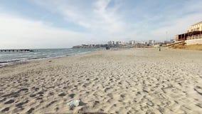 Città di Aqtau dal mare archivi video