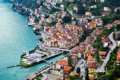 Città di Argegno, lago Como, Italia Fotografia Stock