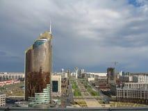 Città di Astana. Panorama immagini stock libere da diritti