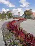 Città di Astana. Torretta di orologio fotografia stock libera da diritti