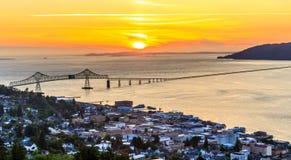 Città di Astoria, Oregon Immagini Stock Libere da Diritti