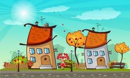 Città di autunno Illustrazione di Stock