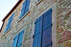Città di Ayvalik, vecchie vie in Cunda Fotografia Stock
