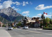 Città di Banff Immagini Stock