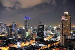Città di Bangkok alla notte Immagini Stock Libere da Diritti