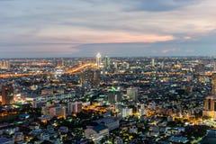 Città di Bangkok alla notte Fotografie Stock Libere da Diritti