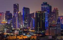 Città di Bangkok di indicatore luminoso Fotografia Stock Libera da Diritti