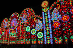 Città di Bangkok di indicatore luminoso Fotografia Stock