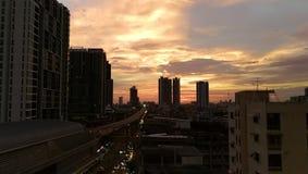 Città di Bangkok nella sera Fotografia Stock