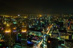 Città di Bangkok a penombra immagine stock