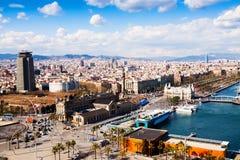 Città di Barcellona dal babordo fotografia stock
