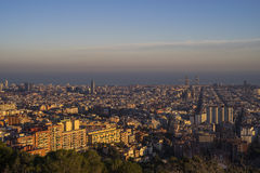 Città di Barcellona, Spagna Immagini Stock Libere da Diritti