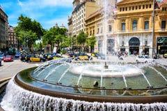 Città di Barcellona, Spagna Immagine Stock
