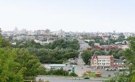Città di Barnaul Fotografie Stock Libere da Diritti