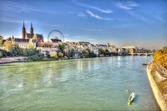 Città di Basilea Fotografia Stock Libera da Diritti