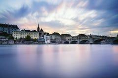 Città di Basilea, Svizzera Fotografia Stock Libera da Diritti
