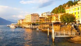 Città di Bellagio con il como del lago Fotografia Stock