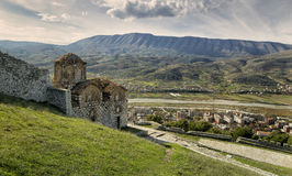 Città di Berati, Albania Fotografie Stock