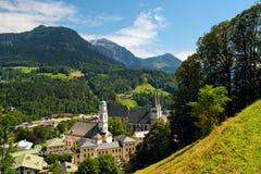 Città di Berchtesgaden in alpi tedesche Fotografia Stock Libera da Diritti