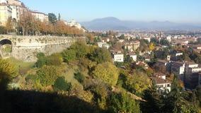 Città di Bergamo Fotografia Stock