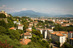 Città di Bergamo, Italia Fotografia Stock Libera da Diritti
