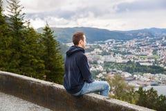 Città di Bergen Fotografie Stock
