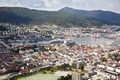 Città di Bergen immagine stock libera da diritti