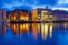 Città di Bergen in Norvegia fotografie stock