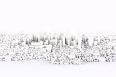 città di bianco 3d Fotografia Stock Libera da Diritti