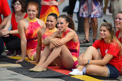 Città di Bloomington, U.S.A. - 27 agosto 2016 - gamma Phi Circus all'interruttore fotografie stock
