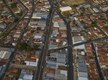 Città di Botucatu a Sao Paulo, Brasile Sudamerica fotografia stock libera da diritti