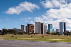 Città di Brasilia, la capitale del Brasile Fotografie Stock Libere da Diritti