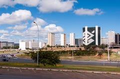 Città di Brasilia, la capitale del Brasile Fotografia Stock Libera da Diritti
