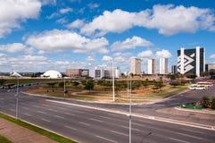 Città di Brasilia, la capitale del Brasile Immagine Stock Libera da Diritti