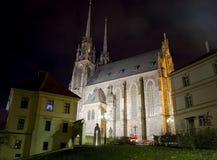 Città di Brno - Petrov Cattedrale del Paul e del Peter santo L'Europa centrale - repubblica Ceca Fotografie Stock Libere da Diritti